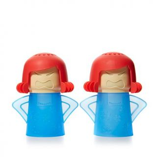 Angry Mama Set of 2 Microwave Steam Cleaners   8033050