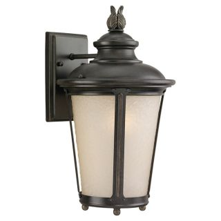 Sea Gull Lighting 89341BLE 780 Cape May 1 Light Outdoor Wall Lantern in Burled Iron