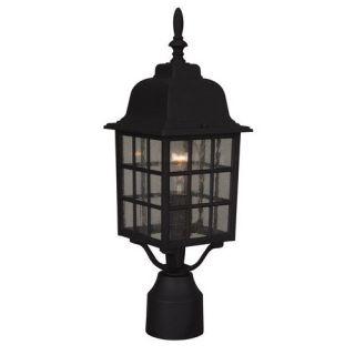 Craftmade Z275 05 Grid Cage 1 Light Medium Up Lighting Outdoor Post in Matte Black