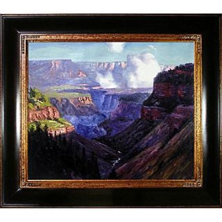 Tori Home Looking Across the Grand Canyon by Edward Henry Potthast Framed Original Painting