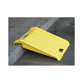 Eagle Manufacturing Company Eagle Mfg   Poly Curb Ramp Poly Curb Ramp Yellow 1000# Load: 258 1794   poly curb ramp yellow 1000# load