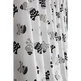 David & Goliath Skulls Microfiber Shower Curtain in Black / White