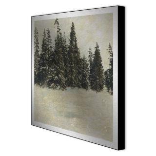 Gallery Direct Sara Abbott Snow Trees II Framed Metal Art   12520763