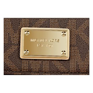 Michael Kors Jet Set Checkbook Wallet in Brown   Jet Set   Michael
