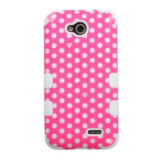 INSTEN Tuff Dual Layer Hybrid Dots Rubberized Hard PC/Silicone Phone