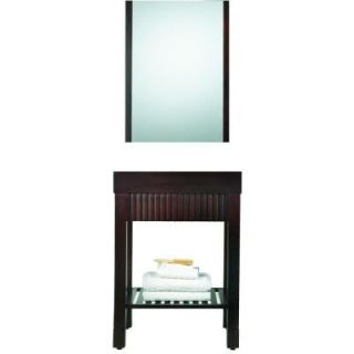 Pegasus Eurasia 30 in. Birch Vanity Cabinet with Mirror in Espresso DISCONTINUED PEG EURA 30ES