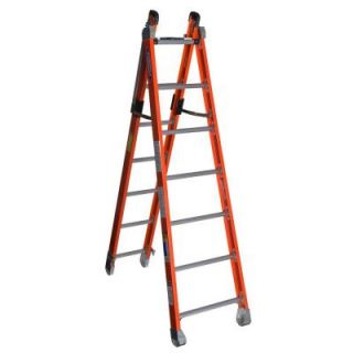14 ft. Fiberglass Combination Multi Position Ladder with 375 lb. Load Capacity Type IAA Duty Rating 7807