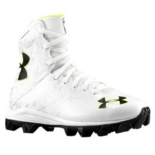 Under Armour Lacrosse Highlight RM   Boys Grade School   Lacrosse   Shoes   White/Metallic Silver