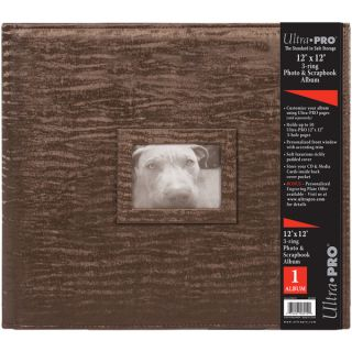 Archival quality Brown Leatherette Collage Frame Photo Album