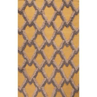 National Geographic Home Premium Wool Flat Weave Yellow/Gold Area Rug