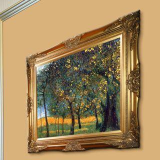 La Pastiche Fruit Trees, 1901 Metallic Embellished by Klimt Framed