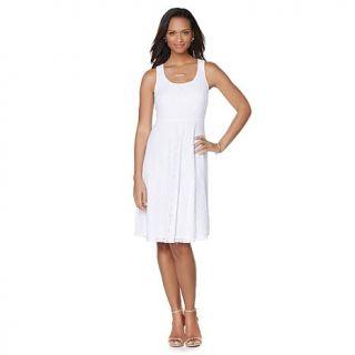 Slinky® Brand Sleeveless Lace Skater Dress   8030052
