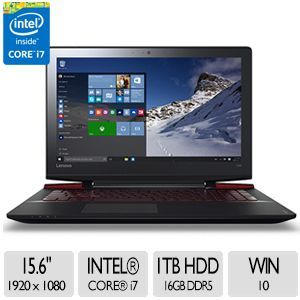 Lenovo ideapad Y700 15.6 Notebook   1920 x 1080, IPS Anti Glare, Intel� Core� i7 6700HQ, 8GB DDR4, 1TB HDD, NVIDIA GeForce 960M,  Backlit Keyboard, 3x USB Ports, Win 10   80NV0026US
