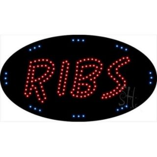 Sign Store L100 2042 Ribs Animated LED Sign, 27 x 15 x 1 inch