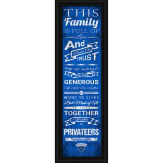 New Orleans Privateers Crackle Family Cheer Framed Art