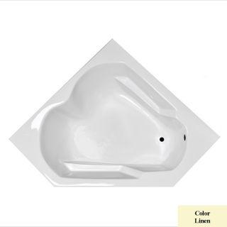 Laurel Mountain Dual Corner Plus Linen Acrylic Corner Drop in Bathtub with Right Hand Drain (Common: 60 in x 60 in; Actual: 20 in x 59.625 in x 59.625 in