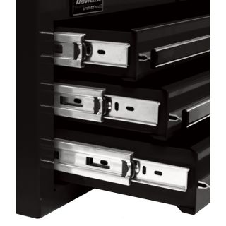 Homak H2PRO 41in. 6-Drawer Roller Tool Cabinet with 2 Compartment Drawers — Black, 41 15/16in.W x 22 7/8in.D x 42 1/4in.H, Model BK04041062  Tool Chests