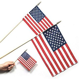 S&S 12 x 18 Cotton US Flags, 12/Pack