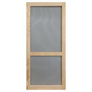 Screen Tight Woodcraft Natural Wood Hinged Screen Door (Common: 32 in x 80 in; Actual: 32 in x 80 in)