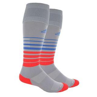adidas Team Speed Soccer Socks   Soccer   Accessories   Light Onix/Solar Red/Lucky Blue
