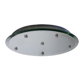 Surface Mount Miorrored Canopy for 6 Quick Connect Pendant/Fixture