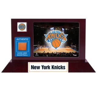 New York Knicks  Authentic Team Logo Desktop Display with Team Used Basketball