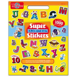 ABCs and 123s Super Stickers Book