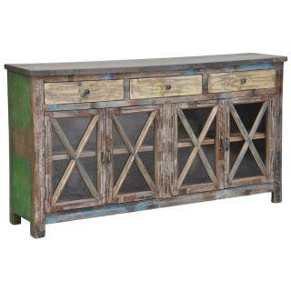 Kosas Home Snipe Distressed Reclaimed Wood Buffet Sideboard   15365358