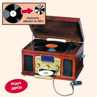 5 In 1 Retro Vintage CD Record Player Recorder