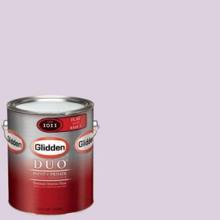 Glidden DUO Martha Stewart Living 1 gal. #MSL176 01F Cotton Candy Flat Interior Paint with Primer DISCONTINUED MSL176 01F