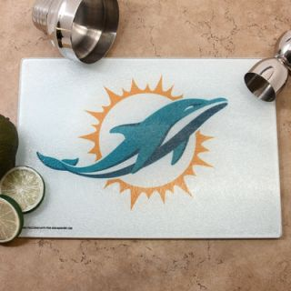 Miami Dolphins Logo Glass Cutting Board