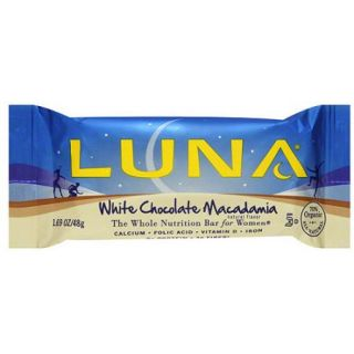 LUNA White Chocolate Macadamia Nutrition Bars, 1.69 oz (Pack of 15)