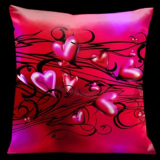 Valentine Hearts Throw Pillow by Lama Kasso