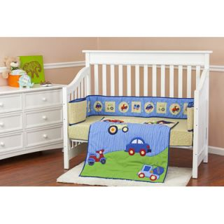 Dream On Me Travel Time 3 Piece Crib Bedding Set