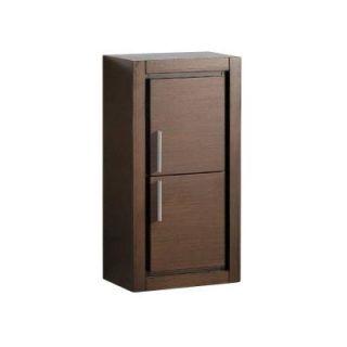 Fresca Allier 16 in. W Linen Storage Cabinet in Wenge Brown FST8140WG
