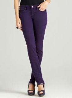 Andrea Jovine Skinny Leg Velvet Plum Jean   14794544