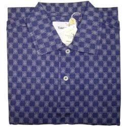 Harry Vardon Mens Blue/ White Golf Polo Shirt   13390410