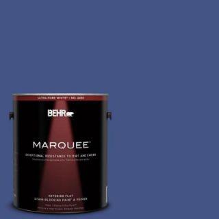 BEHR MARQUEE 1 gal. #600B 7 Yacht Club Blue Flat Exterior Paint 445301