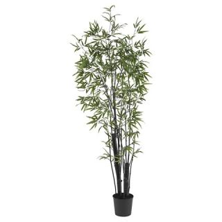 Nearly Natural 6 Black Bamboo Silk Tree (2 Thick Trunks)