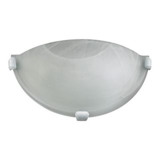 Quorum International 5629 6 Moritz 1 Light Wall Sconce in White with Faux Alabaster Glass