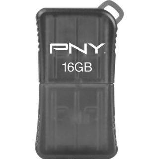 PNY 16GB Micro Sleek USB 2.0 Flash Drive, Grey