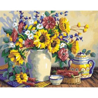 """Paint By Number Kit 14""""X11"""" Sunflower Still Life"""