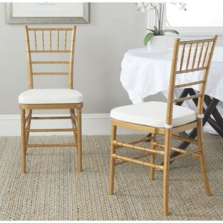 Safavieh Country Classic Dining Carly White Indoor/Outdoor Side Chairs