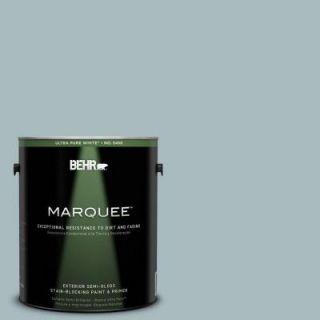 BEHR MARQUEE 1 gal. #MQ6 4 Gray Wool Semi Gloss Enamel Exterior Paint 545401