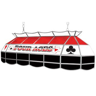 Texas Hold em Stained Glass 40 inch Lighting Fixture   17729270