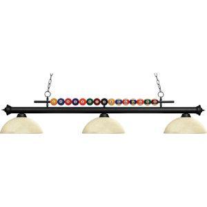 Z Lite ZLT 170MB DGM14 Shark Matte Black  Bar Pool Table Lighting Lighting