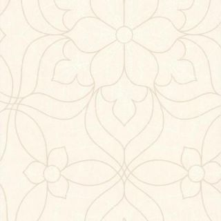 56 sq. ft. Charlotte Pearl Modern Floral Wallpaper 301 66912