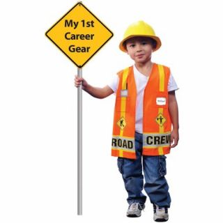 My First Career Gear Road Crew Toddler Halloween Costume, Size 3T 4T