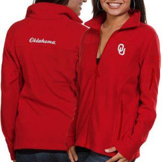 Columbia Oklahoma Sooners Womens Logo Give & Go Fleece Full Zip Jacket   Crimson