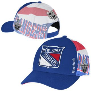New York Rangers Reebok 2015 Stanley Cup Playoffs Adjustable Hat   Royal Blue